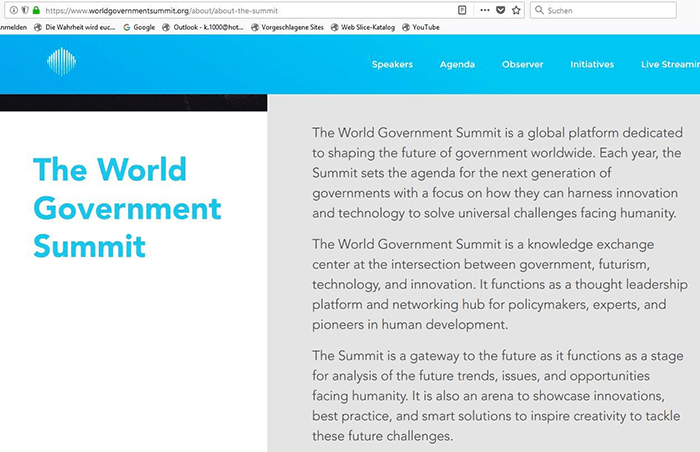 Screenshot The world goverment Summit